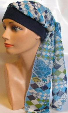 blue square scarf