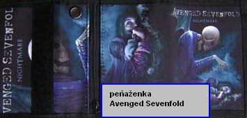 AVENGED SEVENFOLD NIGHTMARE Peňaženka