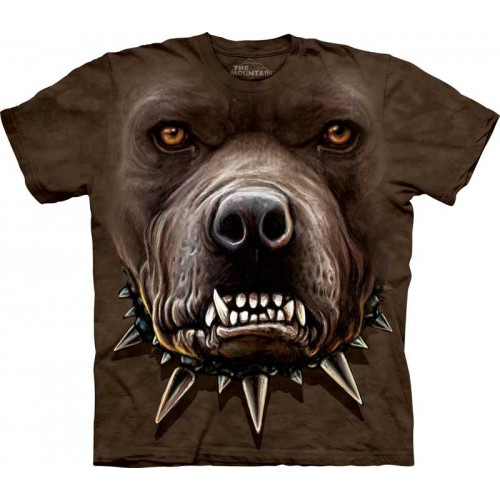angry pitbull face shirts